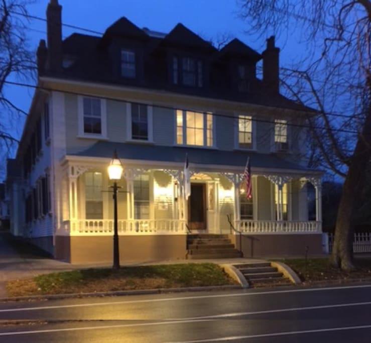 Historic David Leonard House, Russell Warren, Architect