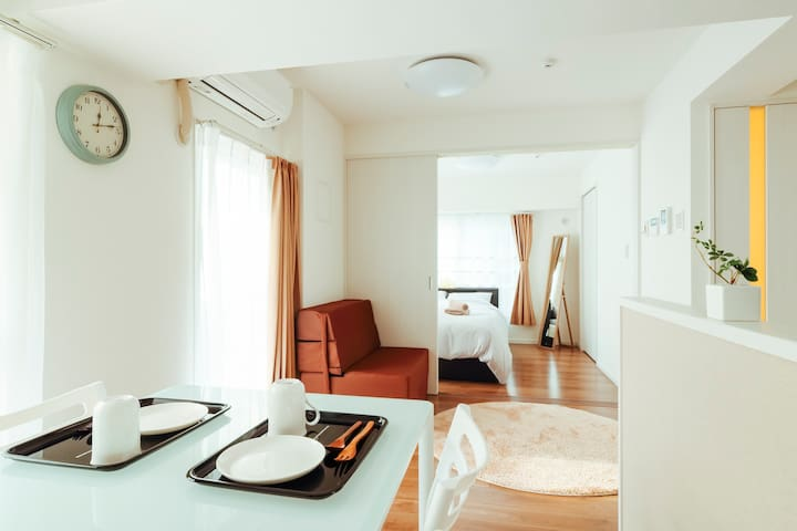 Minimalist 1BR Apt. in the heart of Tokyo!