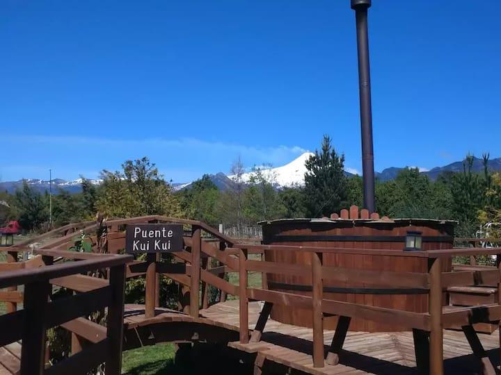 Tres Volcanes hermosas vistas al Volcán Villarrica