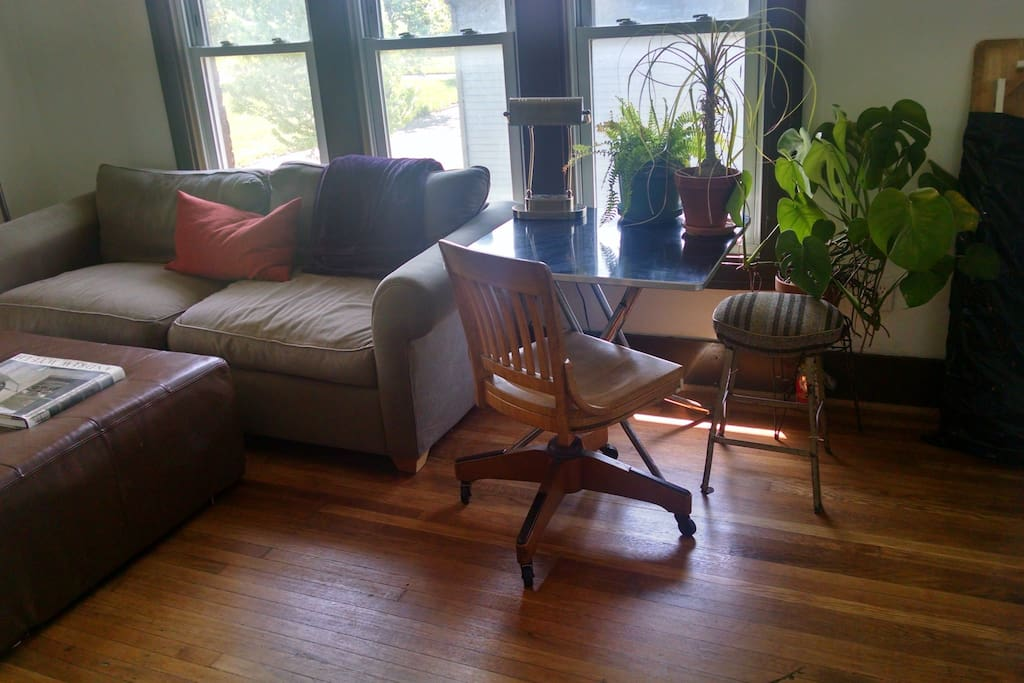 Pleasant couch / laptop space