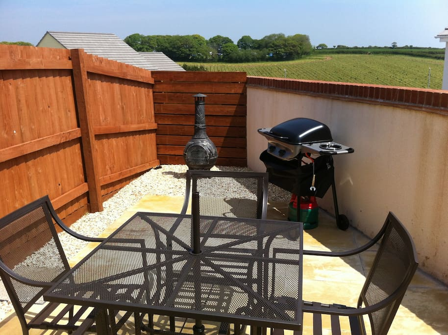Back  garden, gas BBQ and Chiminera in the summer time available
