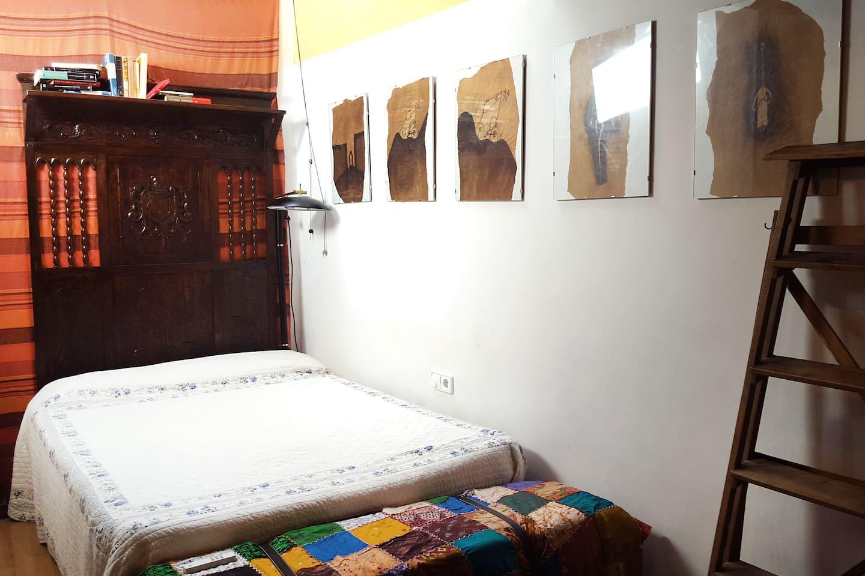 Habitación de 14 m² para 2 personas con calefacción.