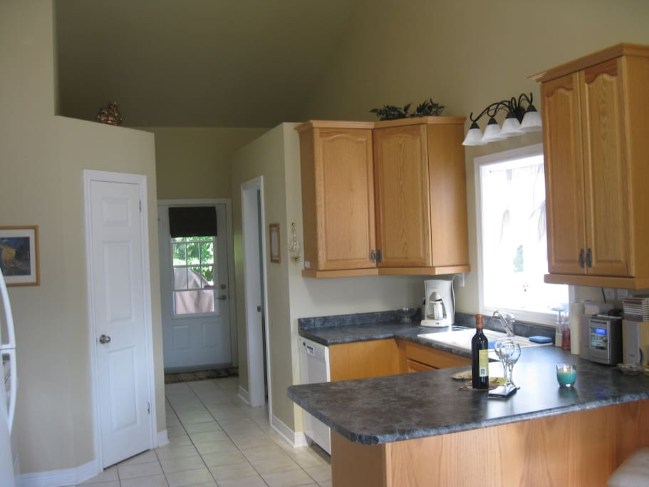 kitchen & back entrance
