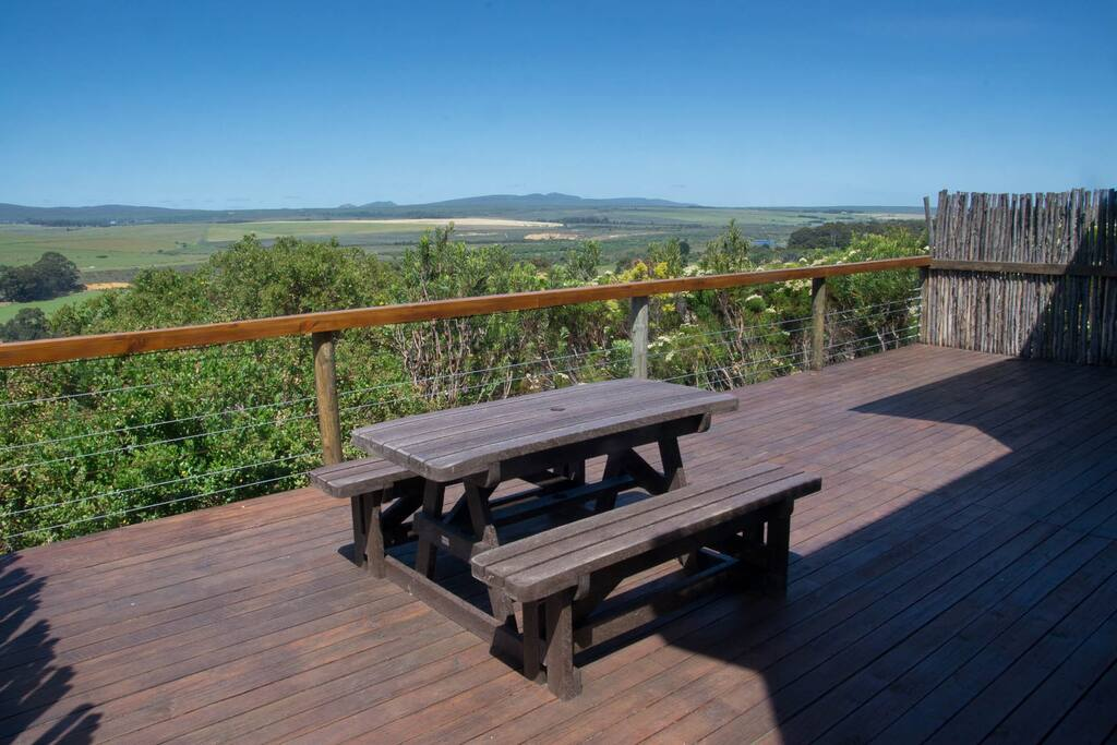 Decking with views across the Overberg