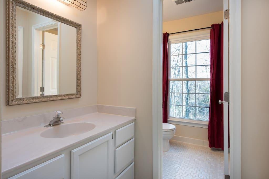 Half bath next to full private bath - yours alone