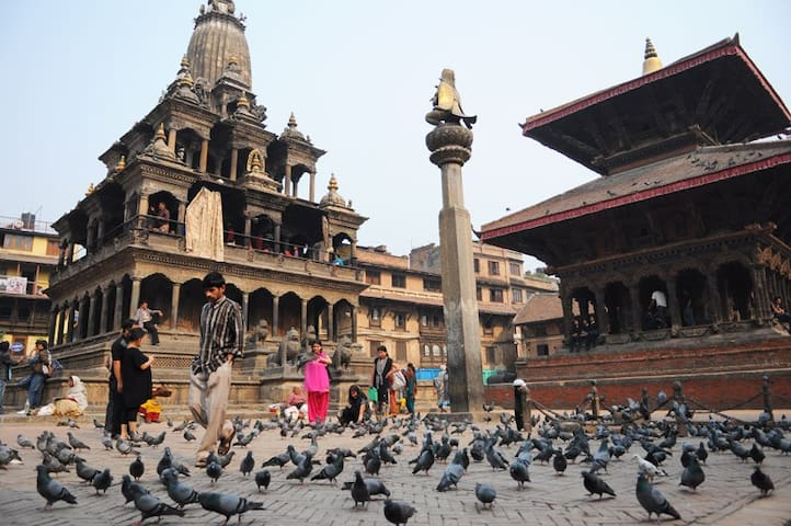 Durbar Square in the morning, 200 meters away