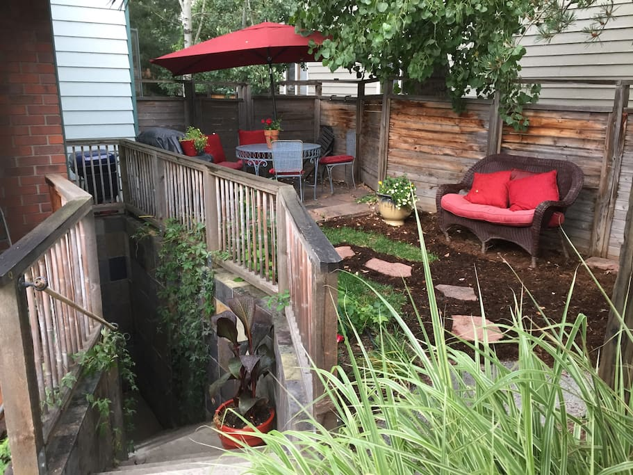 Private yard and entrance to your cozy space