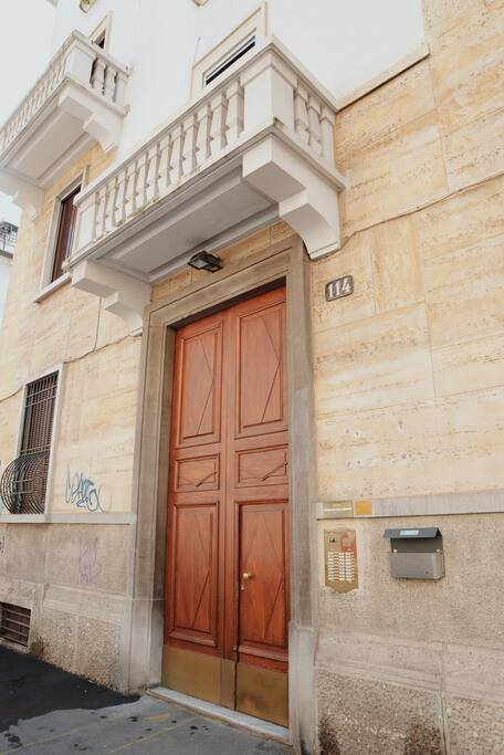 Door of the building - Portone del condominio