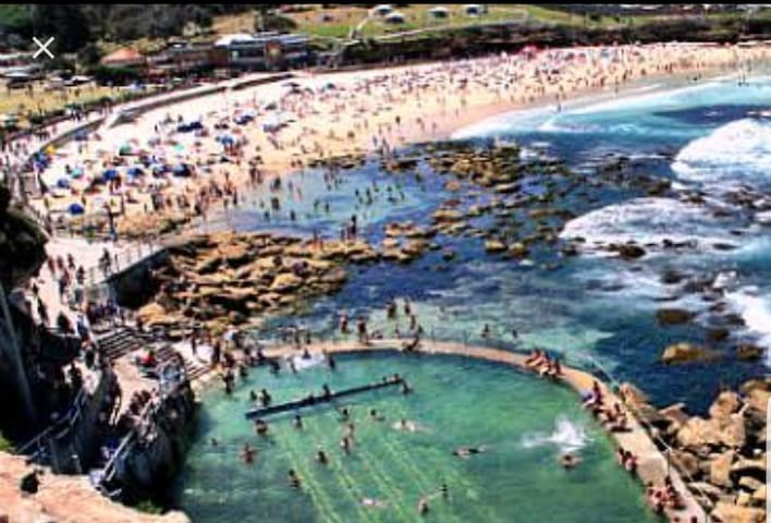 Right on Bronte Beach, kitted with only the best