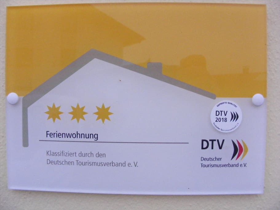 Zertifikat  3* Wohnung