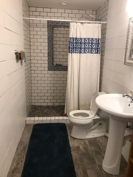 Newly constructed Bathroom with custom shower