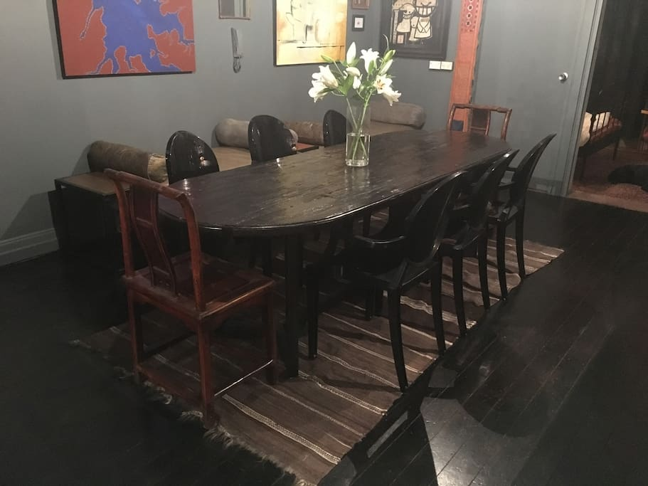 8-10 people dining table