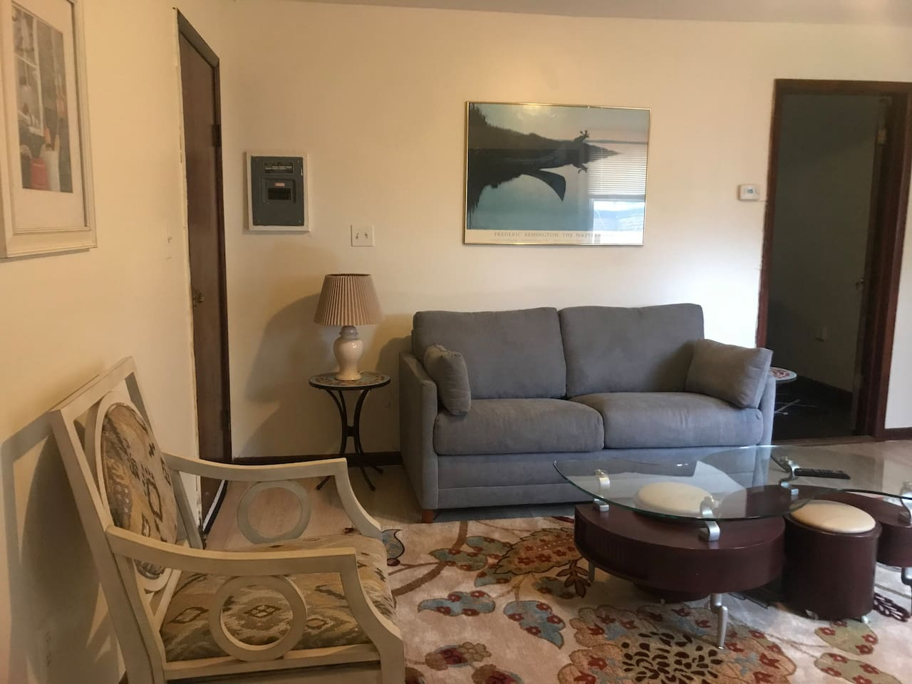 New living room furniture with a sleeper sofa!