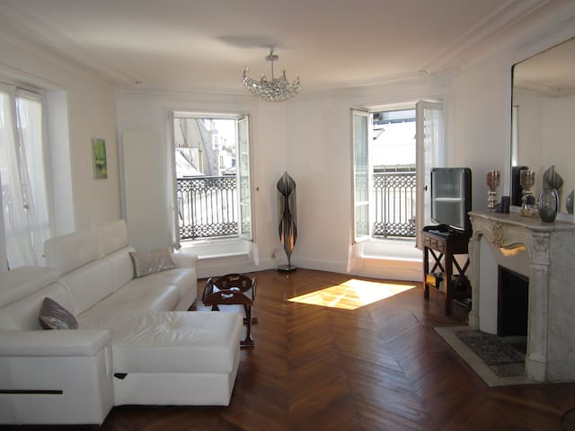 Great light coming in from 4 large windows. Pull-out sofa bed.