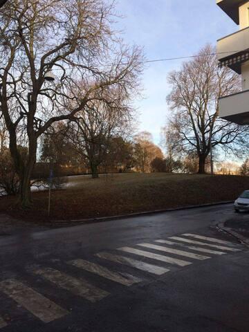 Sentral liten morsom leilighet på Kampen i Oslo