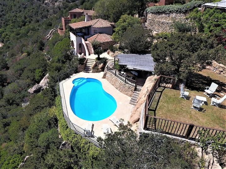 villa with private pool and jacuzzi / porto cervo