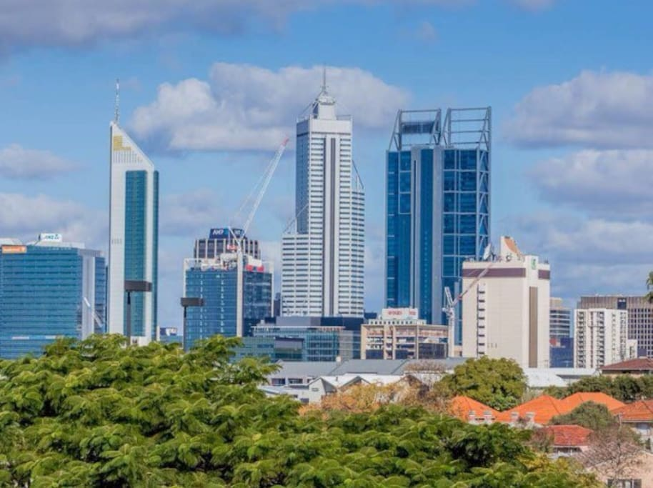 Your View to the City of Perth from the balcony