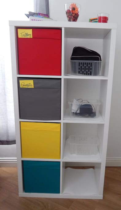 you can keep your things organized