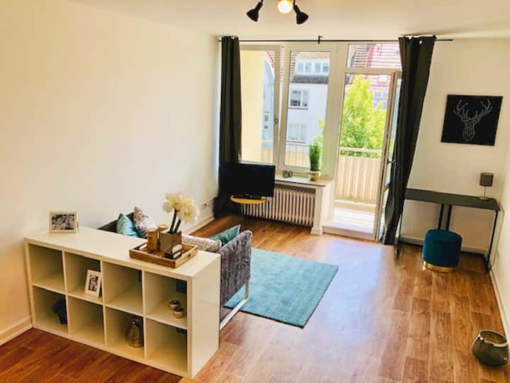 Business Apartment 40qm, Balkon, WLAN, Bürgerpark