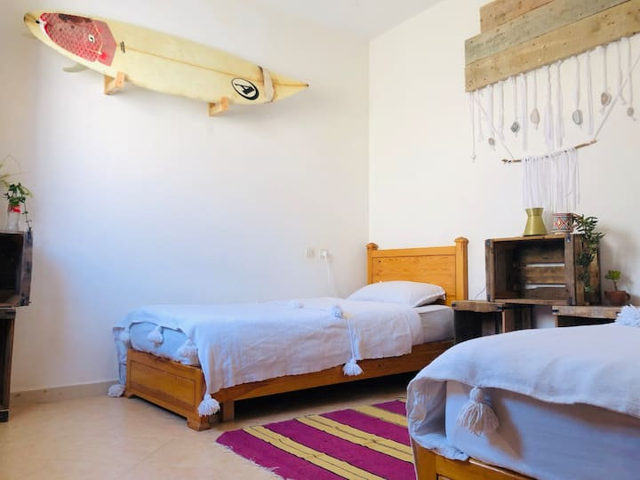 Private room (2 beds or 1 double bed)