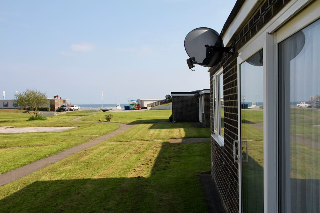 View from the front door towards the beach