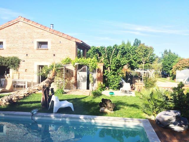 Rare ! Grange contemporaine à 10 min.de Toulouse