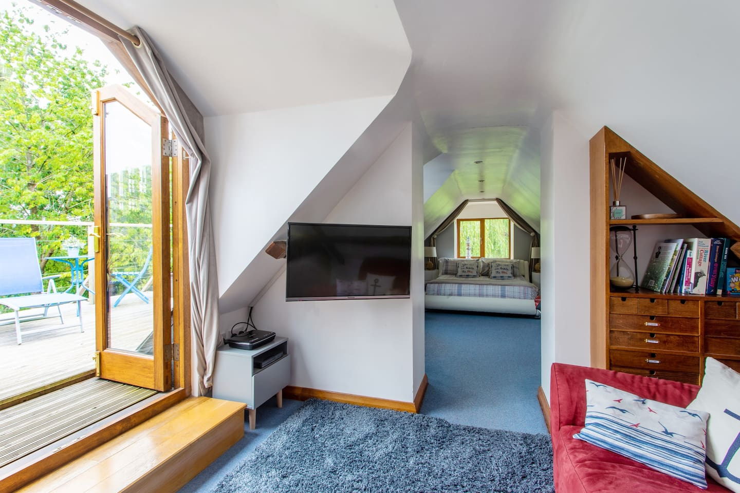 Light and airy accommodation with private balcony and triple aspect views.