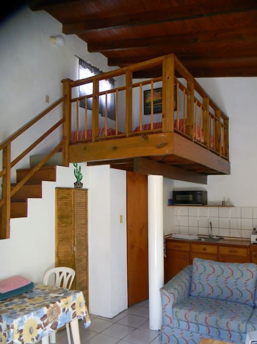 two single beds on the loft