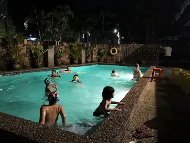 play in the pool after bbq