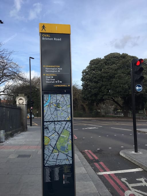 Easy access to Northern line for Bank and West End (Tottenham Court Rd) from Oval tube