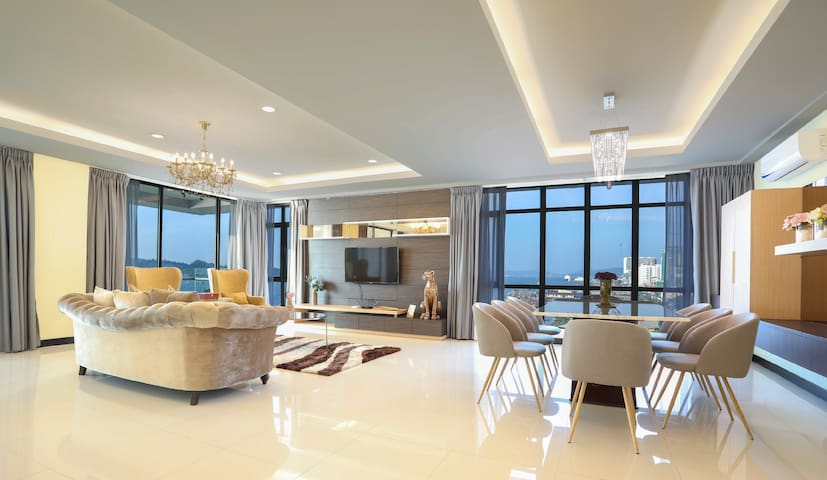 《Atlantìs》MySuite SeaviewWaterfront亚庇市中心海景3房豪华高级公寓