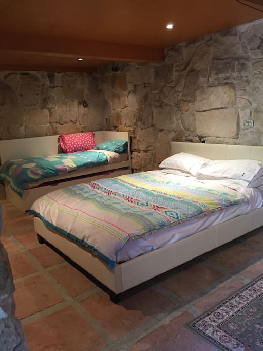 Main bedroom: four lovely beds.