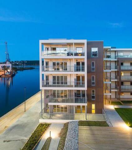 Bynær leilighet, seaside, balkong