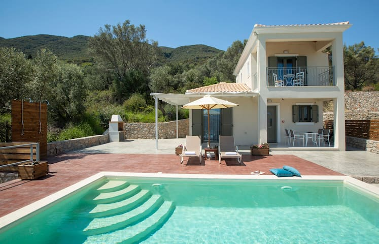 Brand New Villa Ira just 900m from Vasiliki and a Blue Flagged beach