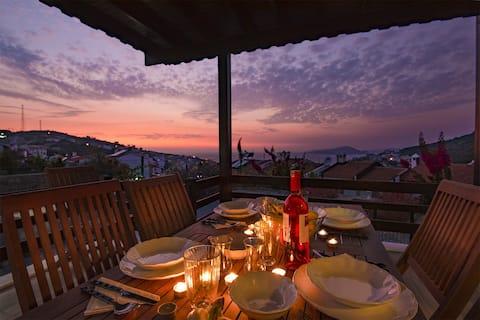 Bodrum sea view villa with access to private beach