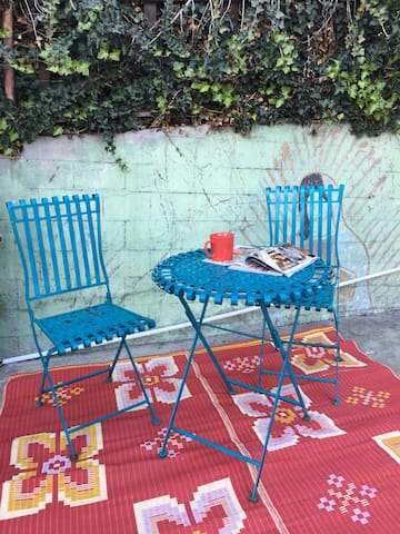 Your own private patio - a great place to start or end the day.