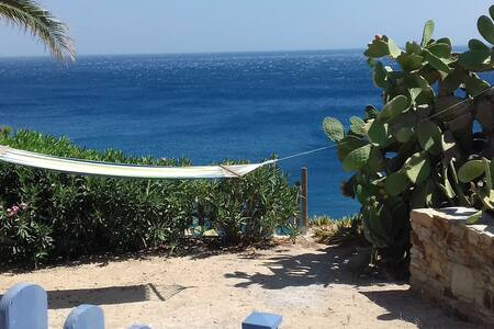 New house with panoramic view of Aegean blue sea