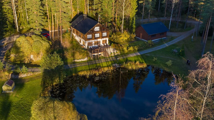 Villa Copper - Log Castle Beside a Forest - Ylöjärvi - Villa
