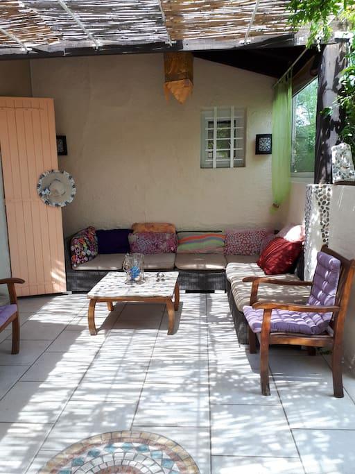 salon détente extérieur