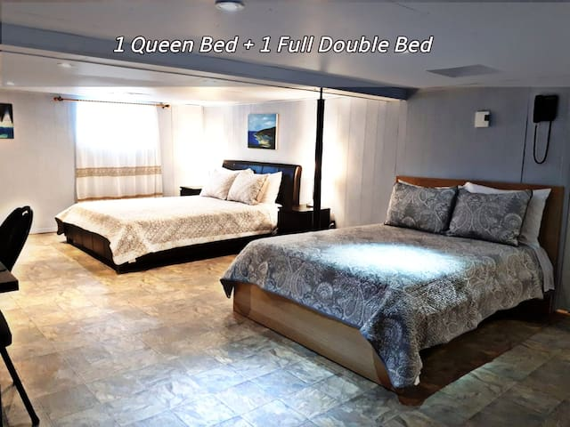 Very big 3rd bedroom. With 1 Queen Bed and 1 Full Double Bed.