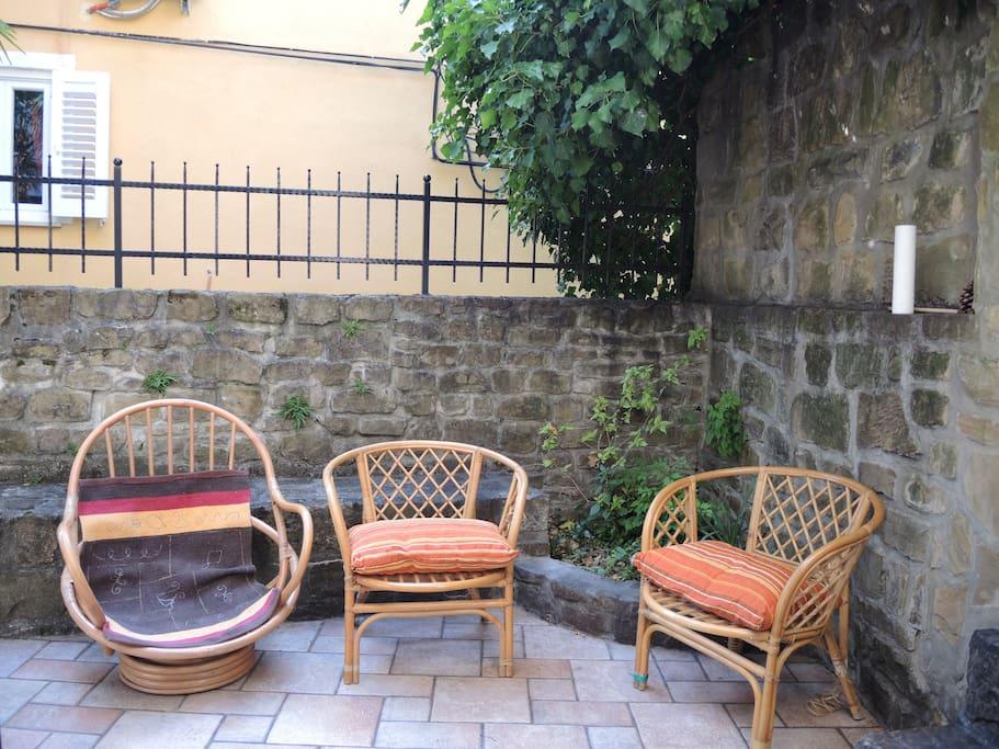 The terrace/patio