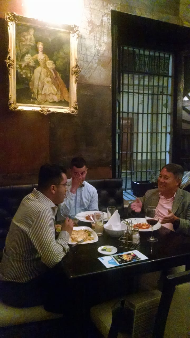 Dinning with Airbnb  guests