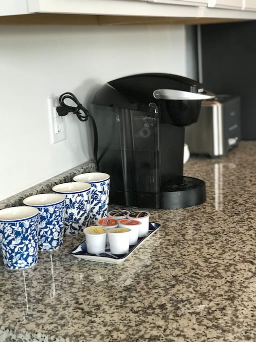 Breakfast bar and complimentary kcups available for your convenience
