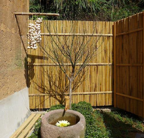 夯土老屋一楼庭院双床房101 - Hangzhou