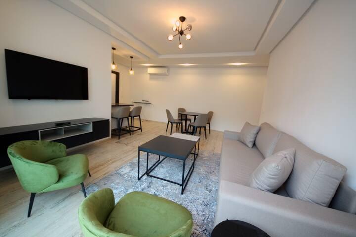 Salon+une chambre à coucher de haut standing-B11