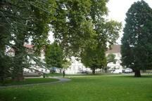 A côté du parc Steinbach Centre de Mulhouse
