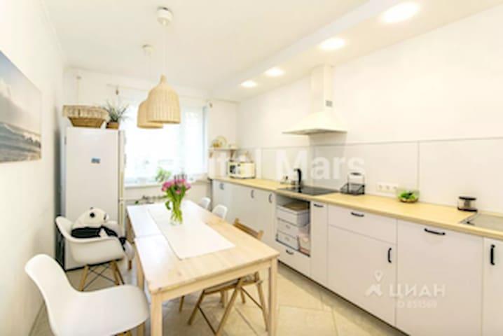 Новая, светлая квартира в Подмосковье ждет гостей!