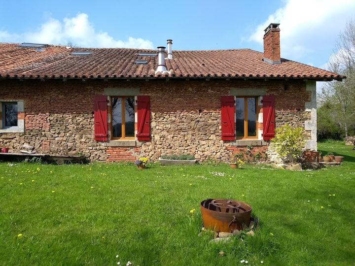 Boerderij op het Franse platteland