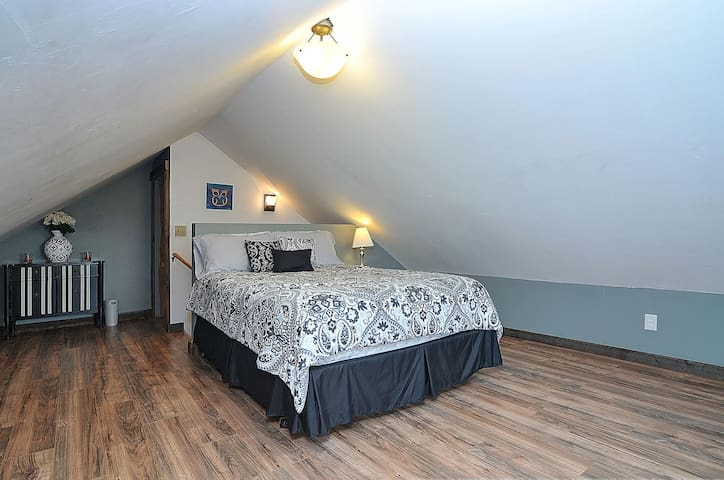 This is the lofted bed room.