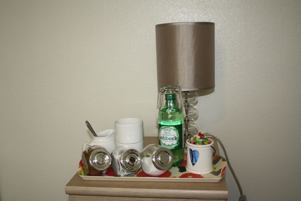 Tea and coffee making facilities provided in room